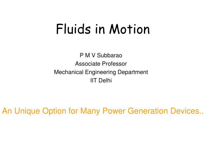 fluids in motion n.
