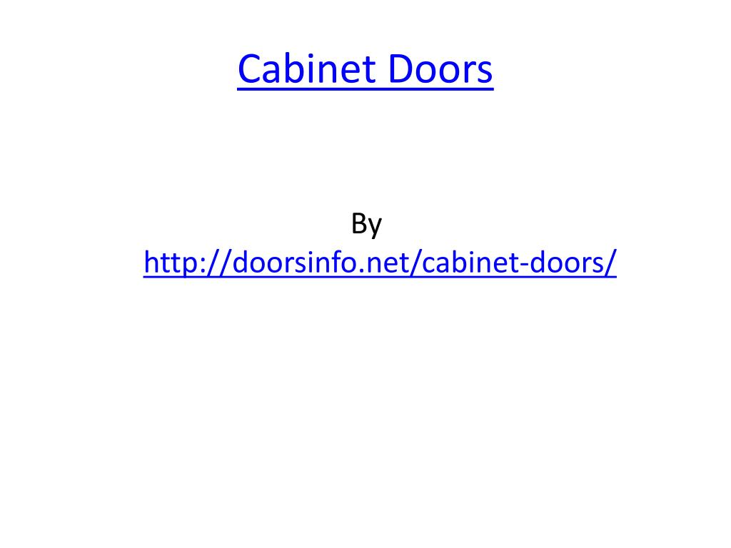 cabinet doors l.