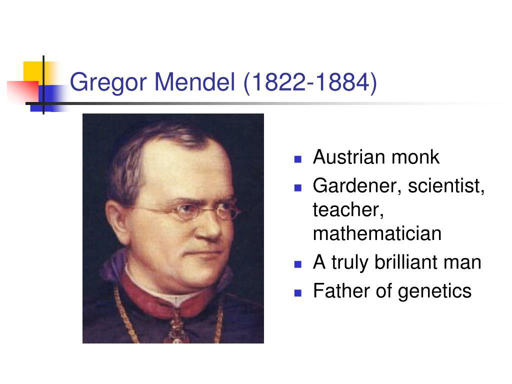 gregor mendel 1822 1884 l.