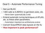 goal 3 automate performance tuning