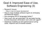 goal 4 improved ease of use software engineering 3