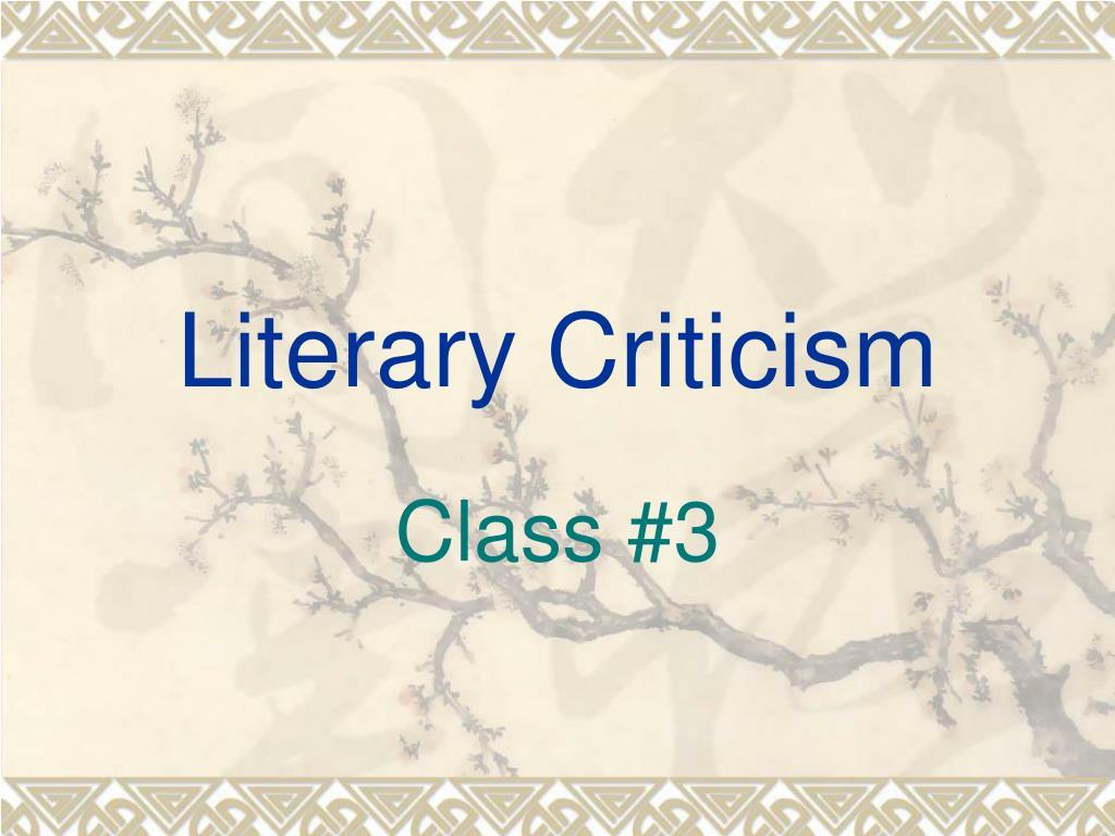 literary criticism l.
