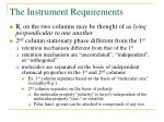 the instrument requirements6
