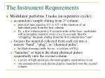 the instrument requirements7