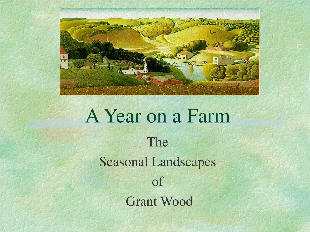 a year on a farm l.