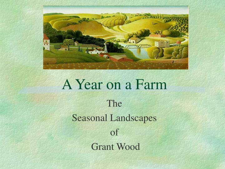 a year on a farm n.