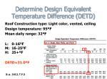 determine design equivalent temperature difference detd19