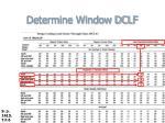 determine window dclf