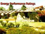 energy performance ratings