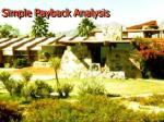 simple payback analysis