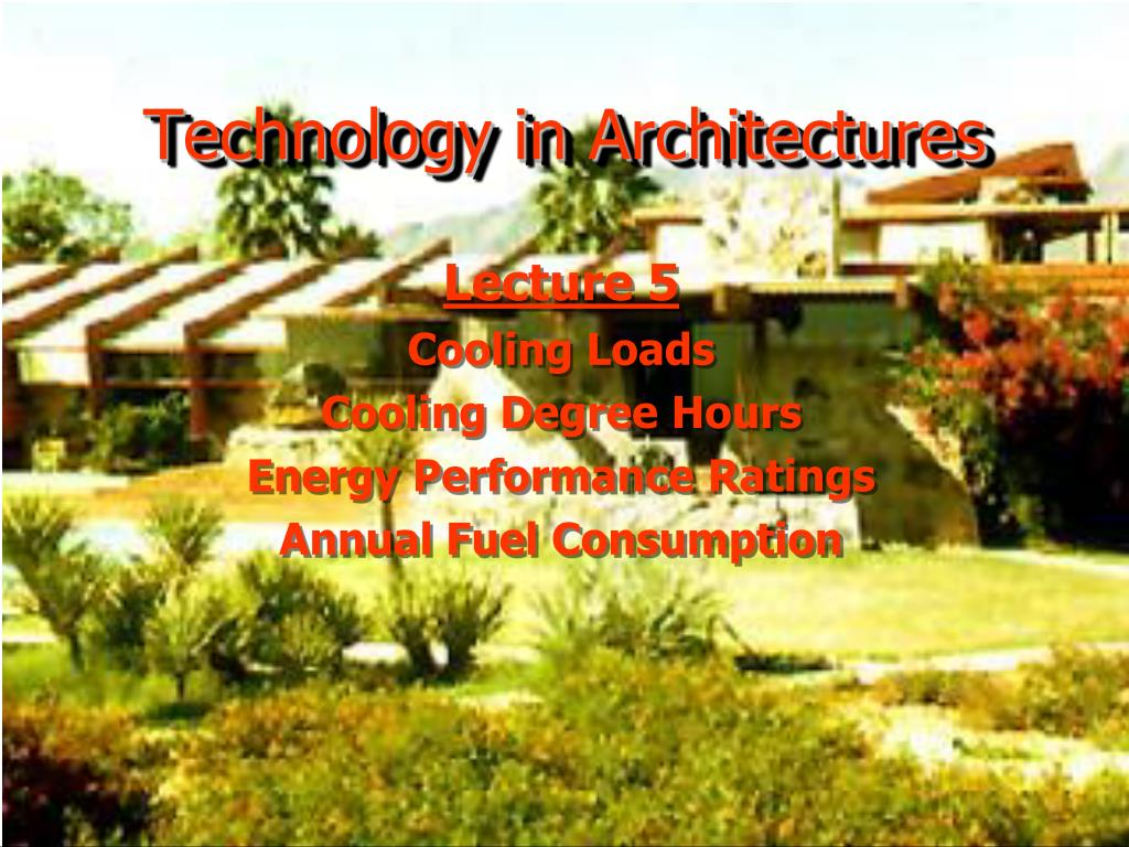 technology in architectures l.