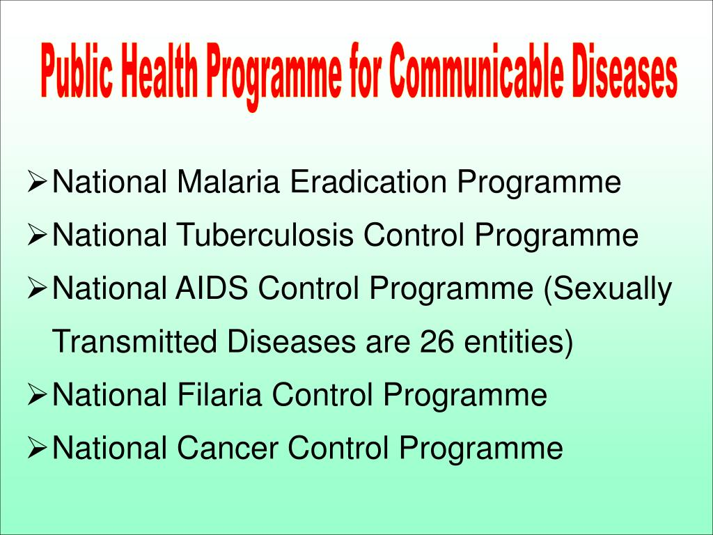 Public Health Programme for Communicable Diseases