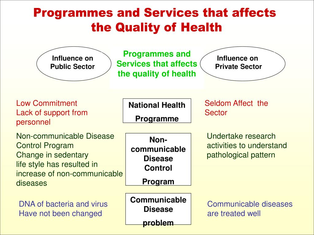 Programmes and Services that affects