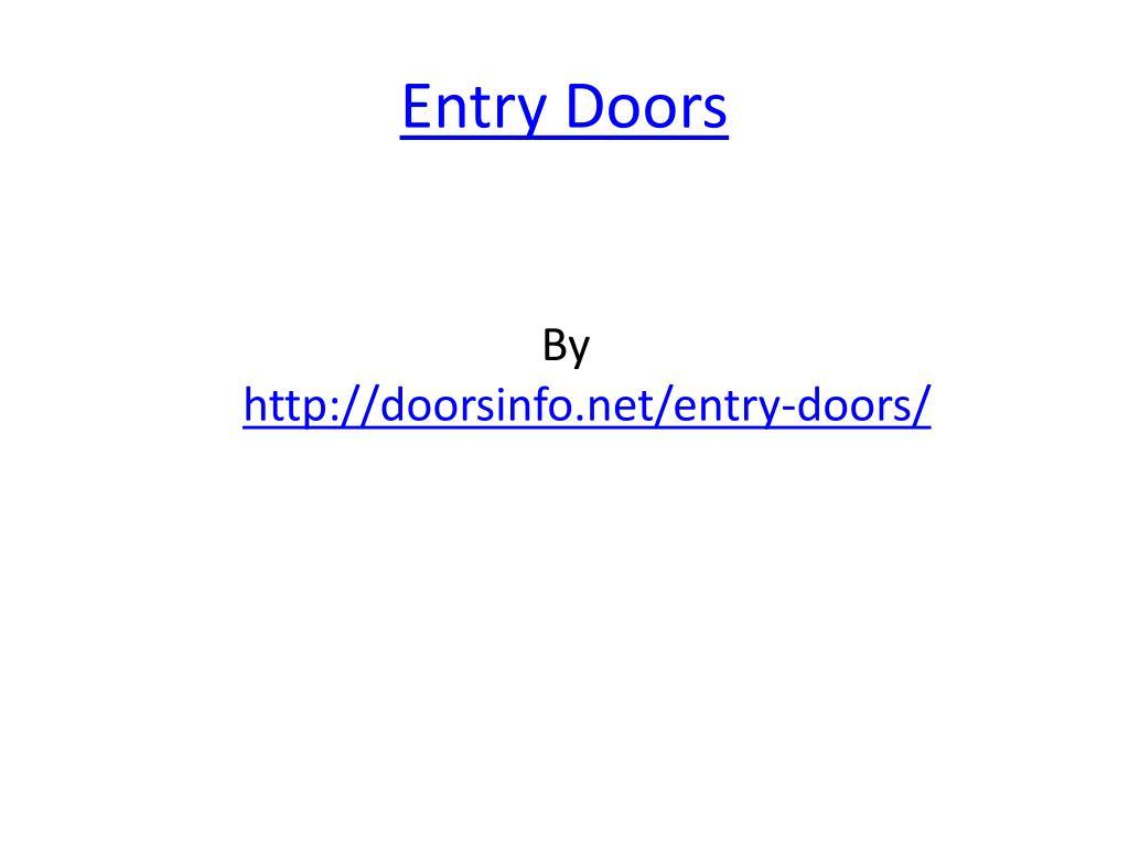 entry doors l.