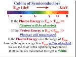 colors of semiconductors