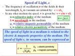 speed of light c