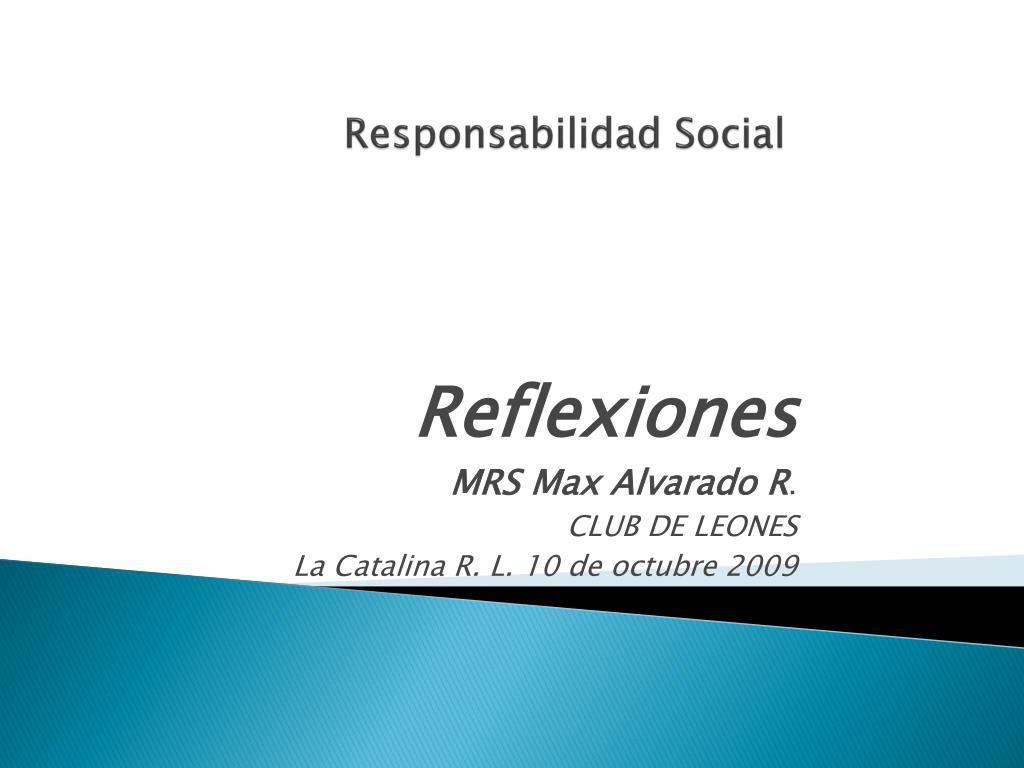 responsabilidad social l.