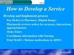 how to develop a service27