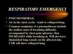 respiratory emergenci