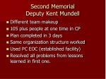 second memorial deputy kent mundell
