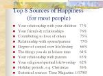 top 8 sources of happiness for most people