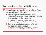 networks of remediation 3 5