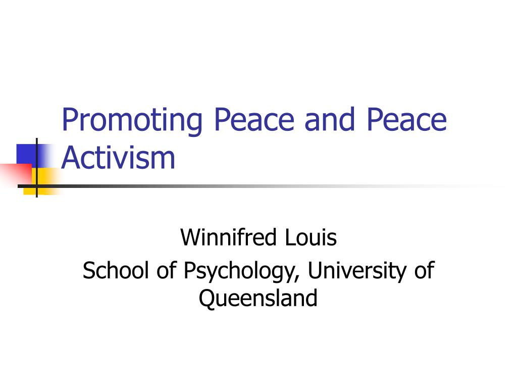 promoting peace and peace activism l.
