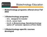 biotechnology education