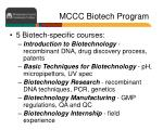 mccc biotech program