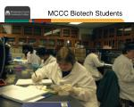 mccc biotech students