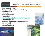 mccc contact information