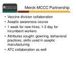 merck mccc partnership