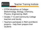 teacher training institute
