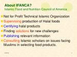 about ifanca islamic food and nutrition council of america