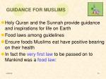 guidance for muslims