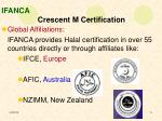ifanca crescent m certification5