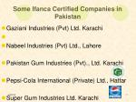 some ifanca certified companies in pakistan7