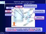 kekb nc ares cavity system v c 0 5 mv 0 6 mv max