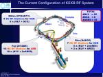 the current configuration of kekb rf system