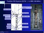 toshiba cw klystron e3732 1 2 mw 509 mhz