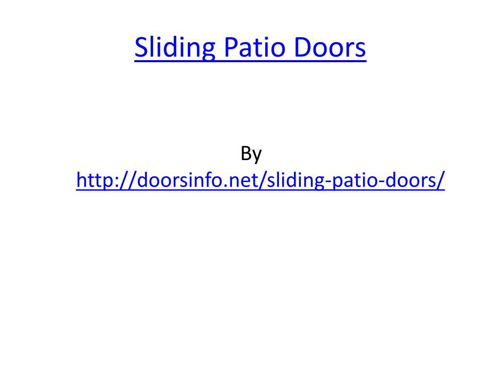 sliding patio doors l.