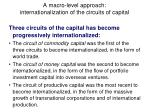 a macro level approach internationalization of the circuits of capital28