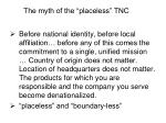 the myth of the placeless tnc