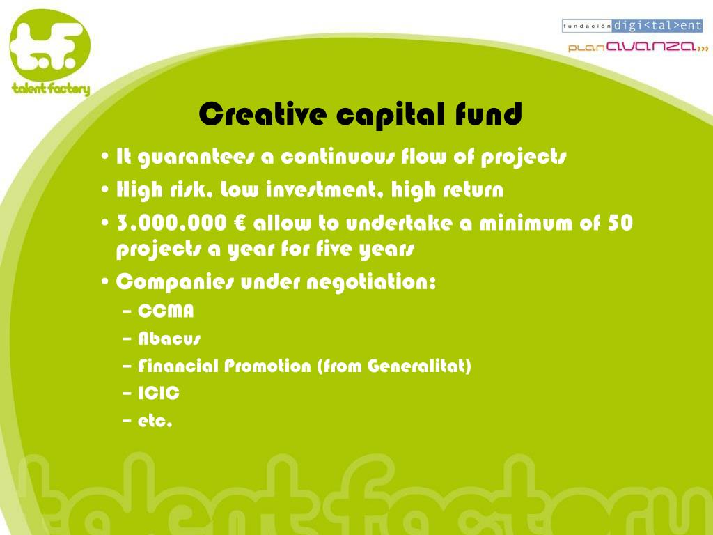 Creative capital fund