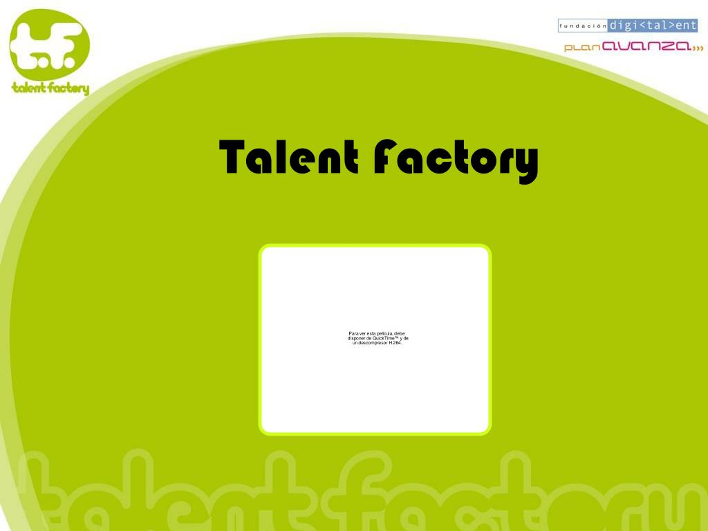 talent factory l.