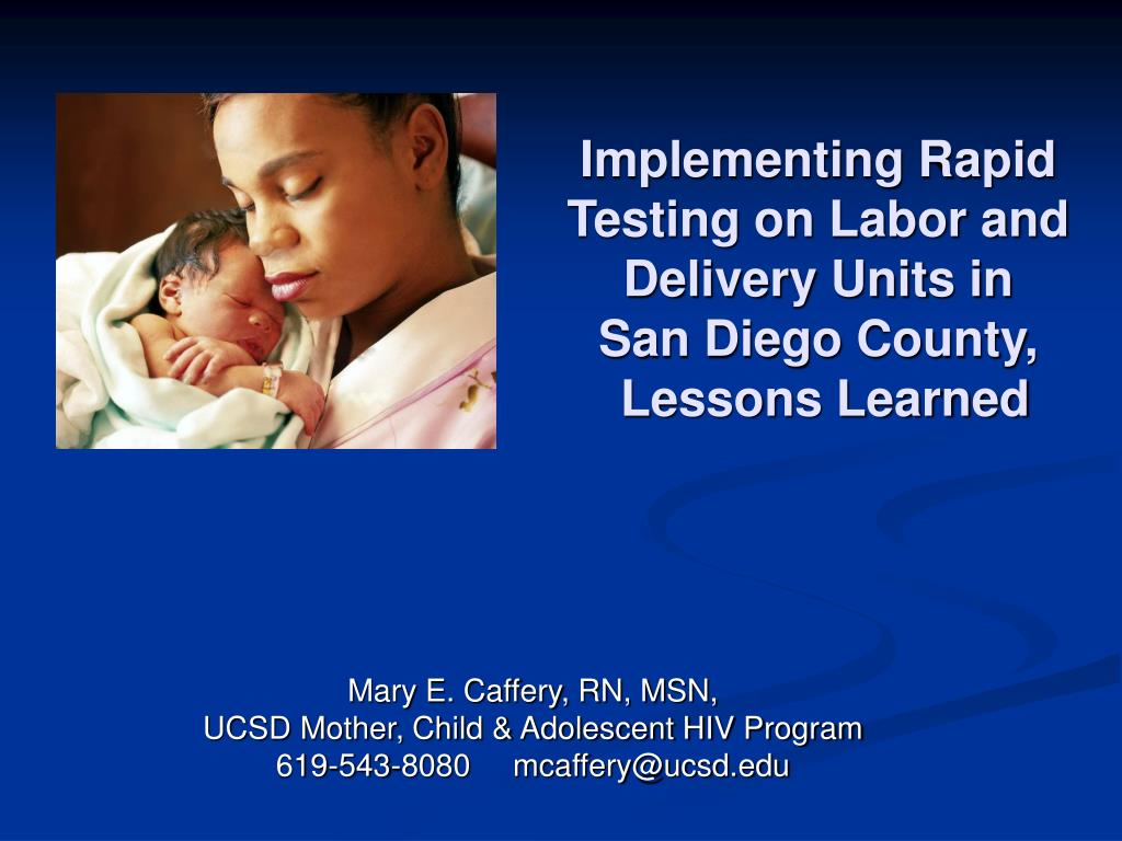 Implementing Rapid Testing on Labor and Delivery Units in