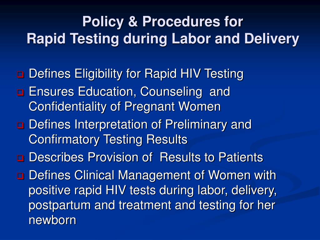 Policy & Procedures for