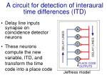 a circuit for detection of interaural time differences itd