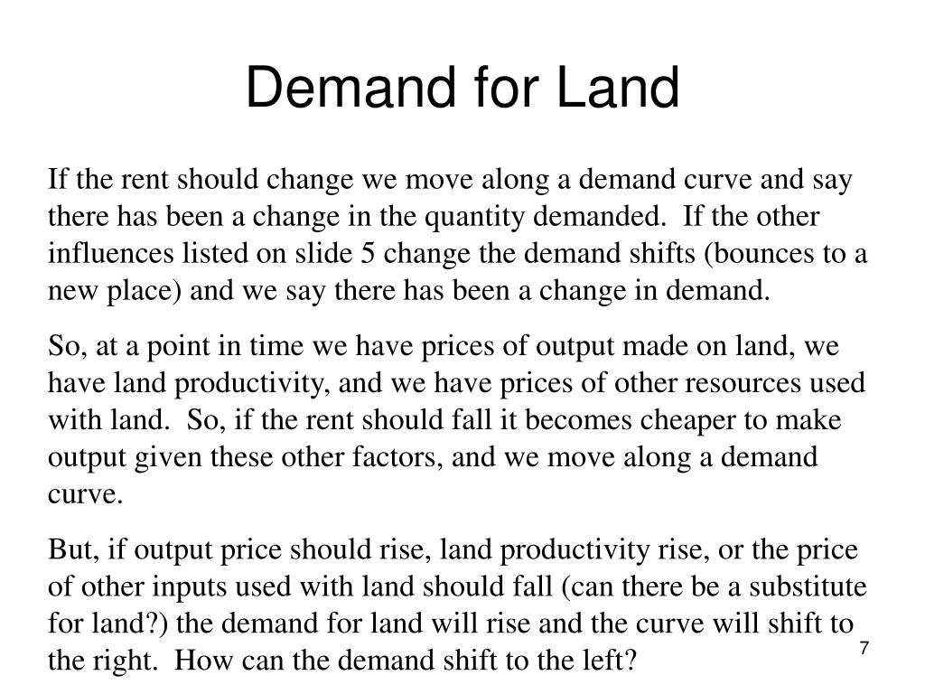 Demand for Land