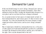 demand for land7